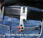 EDC gear Money Clip Cash Stainless Steel keychain Belt hanger Holder Beer Opener