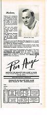 PUBLICITE  1971   INSTITUT PIER AUGE   cosmétiques MR PIER AUGE