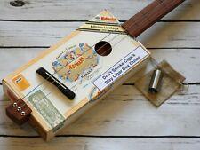 More details for shonky 3 string acoustic cigar box guitar, + stainless steel stubby slide. #226