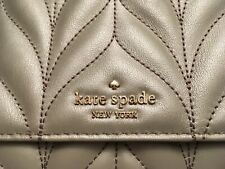 Kate Spade New York Emelyn Briar Lane quilted Silver Crossbody Purse