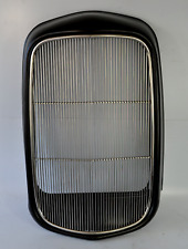 1932 FORD ORIGINAL STYLE GRILL SHELL W/ STAINLESS INSERT SMOOTH NO HOLES