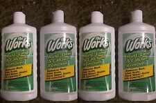 THE WORKS RUST LIME SCALE CALCIUM HARD WATER STAIN REMOVER 4 PK FREE SHIPPING