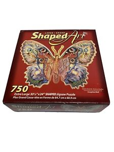 """New 2006 MADAM BUTTERFLY Jigsaw Puzzle Shaped Josephine Wall Extra Large 33""""X24"""""""