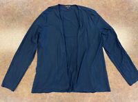 J. Jill Women Navy Blue Long sleeve Open front light flowing Cardigan top size S