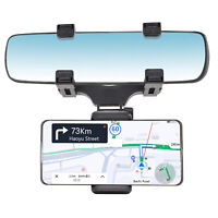 360° Universal Car Rear View Mirror Mount Stand Holder Cradle For Phone GPS 1X