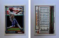 Wes Chamberlain Signed 1992 Topps #14 Card Philadelphia Phillies Auto Autograph