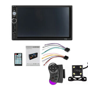 7 Inch2 DIN Car MP5 Player FM Wireless Touch Screen Stereo Radio WITH Camera