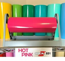 Oracal 651 HOT PINK Glossy Vinyl Roll for decals stickers crafts free shipping