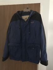 NWT Mens Hollister Imperial Beach Royal Blue Hooded Winter Jacket Coat Size L