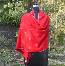 ULTRA SOFT KASHMIR SILK PASHMINA HAND EMBROIDERED STOLE. 90% CASHMERE 10% SILK.