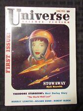 1953 UNIVERSE SCIENCE FICTION #1 Digest VF- Theodore Sturgeon
