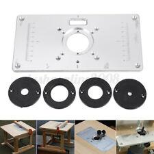 234X120X9mm Router Piastra Inserto Alluminio DIY Per Fresa da Banco Fresatrice