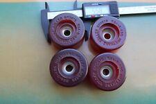 Roller Sports 1970's Urethane 56mm 30mm 90a W4 Vintage Set 4 SKATEBOARD WHEELS