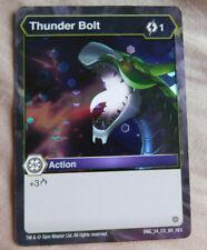 BAKUGAN BATTLE Planet RESURGENCE THUNDER BOLT FOIL Action Card 24_CO_BR_HEX