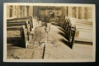 1928 Montpelier Vermont Worcester Massachusetts Bethany Church After Flood RPPC