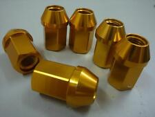 20pc OPEN M12X1.25 35MM EXTENDED ALUMINUM TUNER RACING LUG NUT SET Yellow