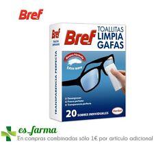 TOALLITAS LIMPIA GAFAS BREF 20UDS VIDRIO MATERIAL SINTÉTICO ESPEJOS SMARTPHONE