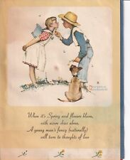 Holiday Card: Norman Rockwell 4 Seasons With Poems-Poster Brown&Bigelow-1940&#0 39;s