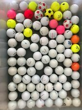 Lot of 100 Used Callaway, Titleist, 7 Other Golf Balls Good Playable Condition