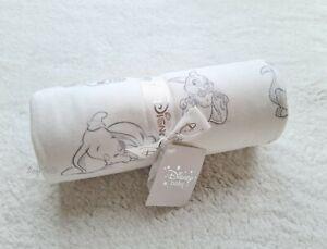 Disney Dumbo Lion Thumper Baby Girl Boy Unisex Grey Soft Blanket Shower Gift