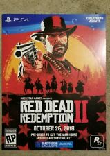 Red Dead Redemotion 2 promotional poster 15 x 11 PS4 RARE Rockstar advert Art