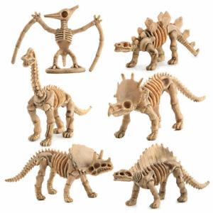 12x Children Dinosaur Skeleton Fossils Assorted Bones Figures Model Toys Gift UK