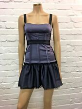 BCBG Stunning Blue Satin & Tulle Cocktail Dress UK Size 6