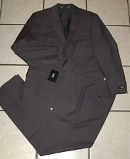 HUGO BOSS The Keys/Shaft Printed Two Button Notch Lapel Wool Suit, Size 36S