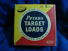 Classic Vintage Peters Target Loads Shotgun Shells 12 GA Ammo Box #37