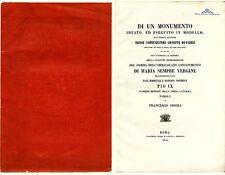 Orioli & De-Fabris: Di un monumento ideato…Aus königlichem Besitz von 1855