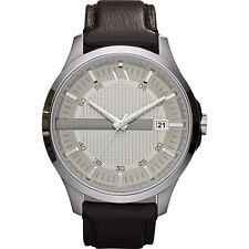 Armani Exchange Men's AX2100 Whitman Silver Dial Brown Leather Watch