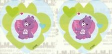 2 x Heart Stickers ~ Heart Care Bears Party Favours Loot ~
