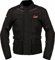 Weise Pioneer Jacket Men's Black Waterproof Textile Motorcycle Jacket NEW