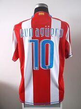 KUN AGUERO #10 Atletico Madrid Home Football Shirt Jersey 2007/08 (L)