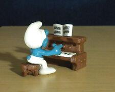 Smurfs Piano Super Smurf Rare Vintage Classic Figure PVC Toy Lot Figurine 40229