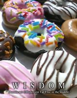 Doughnut Donut Shop Motivational Poster Art Print Chef Bakery Coffee Wall Decor