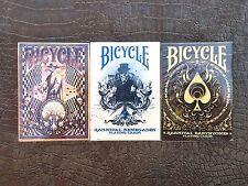 Bicycle Karnival Deck 3 Decks-Delirium, Earthtone9, Renegade-RARE-FREE SHIPPING