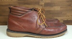 GOKEY COMPANY Mens Size 10 D CHUKKA ANKLE LEATHER BOOTS SHOES Vibram Soles
