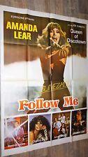 FOLLOW ME ! amanda lear rare  affiche cinema musique vintage 78 disco