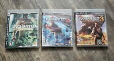 Uncharted 1, 2 & 3 Trilogy for PlayStation 3 PS3 Games Bundle Series Complete