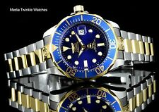 NEW Invicta 47mm Grand Diver AUTOMATIC Blue Dial GoldTone Silver Bracelet Watch