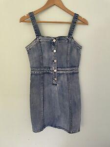 SEED TEEN 14 tween denim fitted sleeveless stretch pencil dress like new