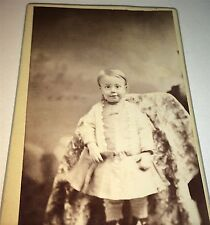 Antique Adorable Victorian American Child, ID'd! Princeton, Missouri CDV Photo!!