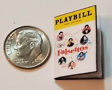"""Miniature Dollhouse Playbill 1/12  1"""" Broadway Theater  Musical Falsettos"""