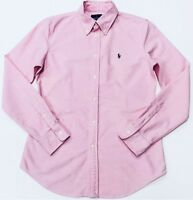 Ralph Lauren Oxford Shirt Slim Fit In Pink