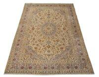 Feiner Kashan 350 x 245 cm Handgeknüpfter Orientteppich Perser Beige Neuwertig