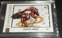 *RARE* Lebron James Written Legends artist signed #'d 8/25 Lakers NBA Champ PSA?