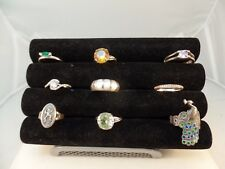 925 STERLING SILVER MISCELLANEOUS RINGS LOT OF 10  VARIOUS SIZE  # S 1410