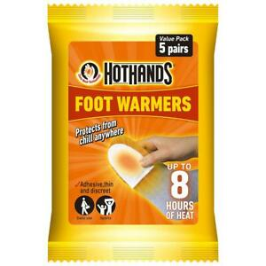 Hot Hands Foot Warmers Heat Warming Feet Outdoor Work - 10 Pairs