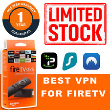 VPN For  FIRE TV  stick amazon fire stick smart tv 1 YEAR WARRANTY premuim VPN